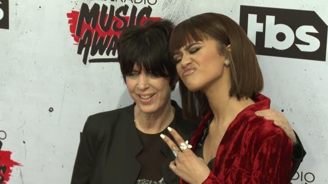 Diane Warren and Zendaya at 2016 iHeartRadio Music Awards at The Forum on April 03 2016 in Inglewood California
