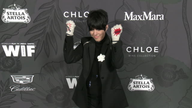diane warren at 12th annual women in film oscar nominees party presented by max mara with additional support from chloe wine collection stella artois... - diane warren stock videos & royalty-free footage