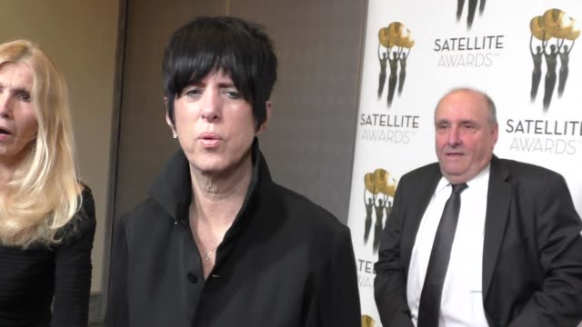 diane warren at the 2016 satellite awards at intercontinental hotel in los angeles in celebrity sightings in los angeles - diane warren stock videos & royalty-free footage