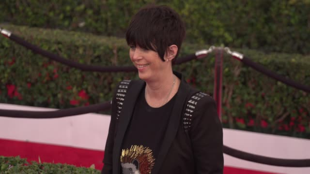 diane warren at the 22nd annual screen actors guild awards arrivals at the shrine auditorium on january 30 2016 in los angeles california 4k - diane warren stock videos & royalty-free footage
