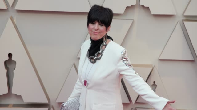 vídeos y material grabado en eventos de stock de diane warren at the 91st academy awards arrivals at dolby theatre on february 24 2019 in hollywood california - diane warren