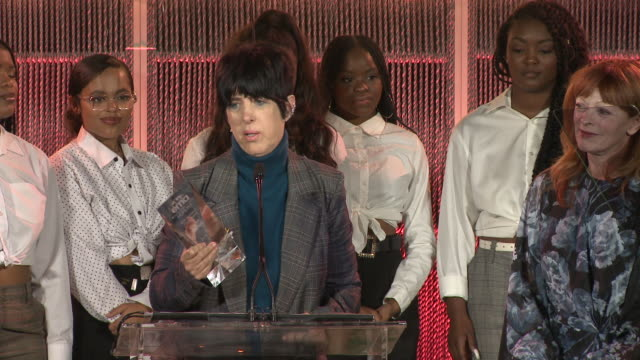 speech diane warren at the environmental media association 2nd annual honors benefit gala in los angeles ca - diane warren stock videos & royalty-free footage