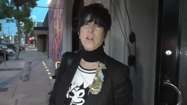 interview diane warren defends joe biden after the new accusations outside craig's restaurant in west hollywood on april 02 2019 at celebrity... - diane warren stock videos & royalty-free footage