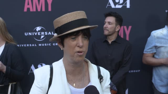 INTERVIEW Diane Warren on Amy Winehouse's unique sound at The US Premiere Of AMY Presented By Chairman CEO Of Universal Music Group Lucian Grainge...