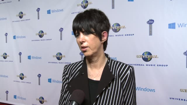 vídeos y material grabado en eventos de stock de interview diane warren on the best part about grammy weekend at universal music group 2014 post grammy party at the ace hotel theater on in los... - diane warren