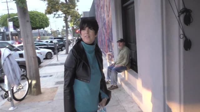 interview diane warren talks about her theme song for late night outside craig's restaurant in west hollywood in celebrity sightings in los angeles - diane warren stock videos & royalty-free footage