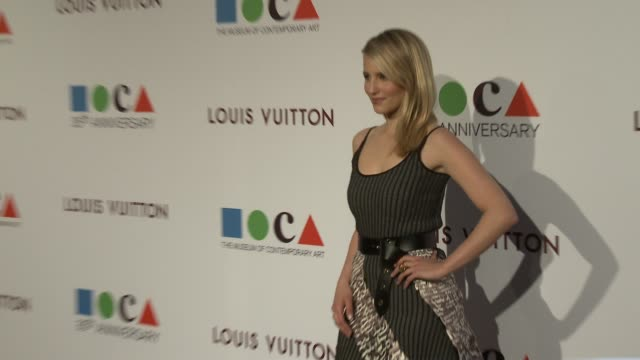 dianna agron at moca's 35th anniversary gala presented by louis vuitton at the geffen contemporary at moca on march 29 2014 in los angeles california - dianna agron stock videos and b-roll footage