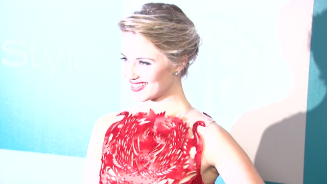 dianna agron at the 13th annual warner bros and instyle golden globe afterparty at the beverly hilton hotel on 1/15/12 in los angeles ca - dianna agron stock videos and b-roll footage
