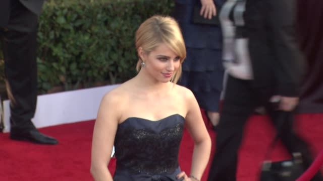 dianna agron at the 17th annual screen actors guild awards arrivals at los angeles ca - dianna agron stock videos and b-roll footage