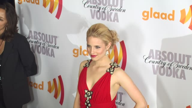 dianna agron at the 2010 glaad media awards at century city ca - dianna agron stock videos and b-roll footage