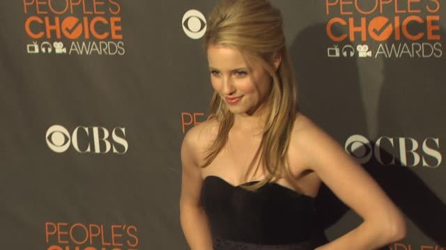 dianna agron at the 36th annual people's choice awards at los angeles ca - dianna agron stock videos and b-roll footage