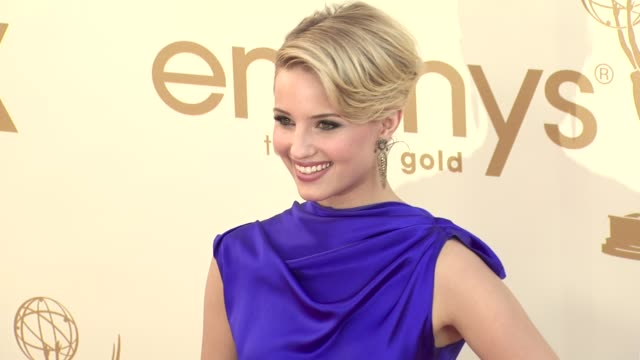 dianna agron at the 63rd primetime emmy awards arrivals part 2 at los angeles ca - dianna agron stock videos and b-roll footage