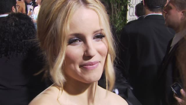 dianna agron at the 67th annual golden globe awards arrivals part 1 at beverly hills ca - dianna agron stock videos and b-roll footage