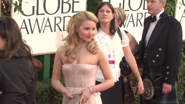 dianna agron at the 68th annual golden globe awards arrivals at beverly hills ca - dianna agron stock videos and b-roll footage