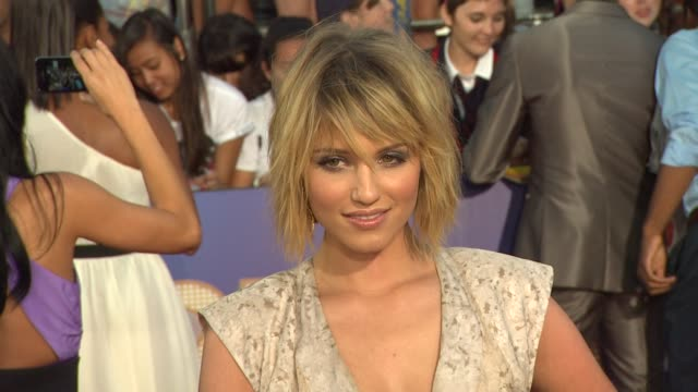dianna agron at the 'glee the 3d concert movie' los angeles premiere at westwood ca - dianna agron stock videos and b-roll footage