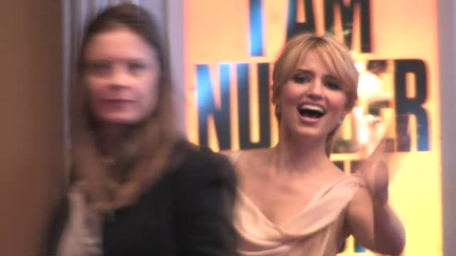 Dianna Agron at the premiere of 'I Am Number Four' in Westwood at the Celebrity Sightings in Los Angeles at Los Angeles CA