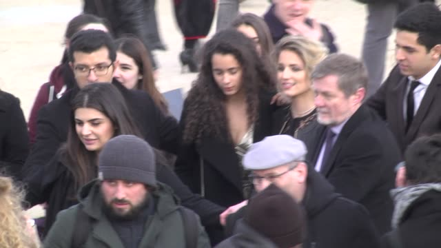 dianna agron attends the elie saab show as part of the paris fashion week womenswear fall/winter 2016/2017 on march 5 2016 in paris france - dianna agron stock videos and b-roll footage