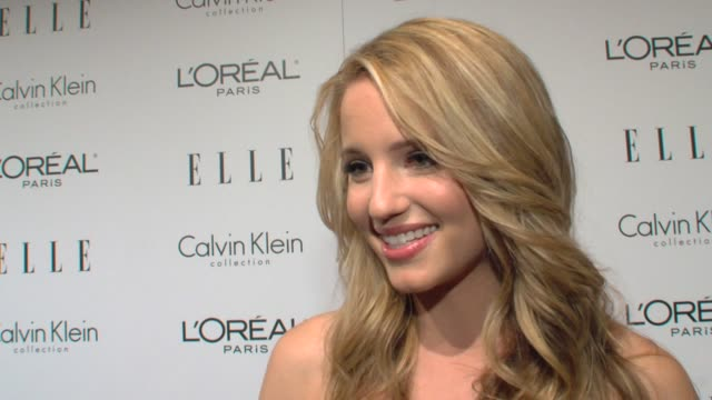 dianna agron on being here on meeting these women on overcoming obstacles in hollywood at the elle's 16th annual women in hollywood tribute at... - dianna agron stock videos and b-roll footage