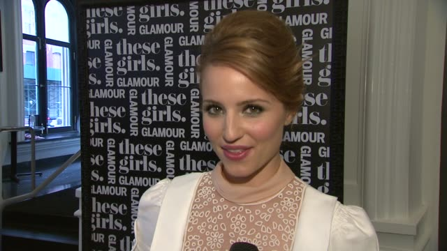 interview dianna agron talks about being excited to perform and women doing it all at glamour presents these girls at joe's pub on may 20 2013 in new... - dianna agron stock videos and b-roll footage