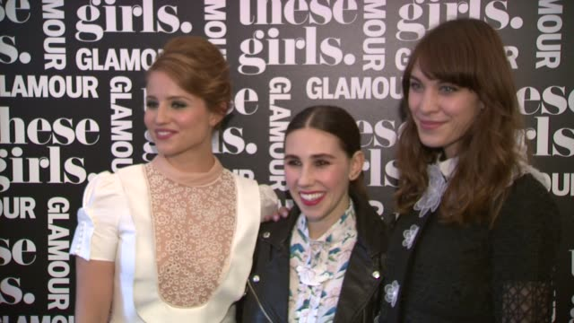 dianna agron zosia mamet alexa chung at glamour presents these girls at joe's pub on may 20 2013 in new york new york - dianna agron stock videos and b-roll footage