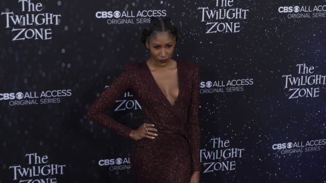 "diarra kilpatrick at the premiere of ""the twilight zone' at the harmony gold preview house and theater on march 26, 2019 in hollywood, california. - harmony gold preview theatre stock videos & royalty-free footage"