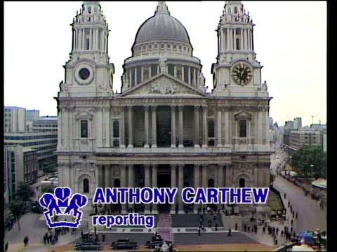 diary of the day part one royal wedding diary of the day part one london st pauls a/g st paul's gv st paul's spike milligan harold macmillan and... - alastair burnet stock-videos und b-roll-filmmaterial