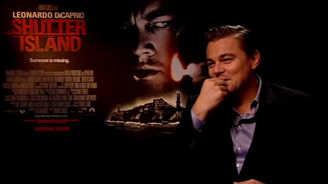 dicaprio interview sot - on working with director martin scorcese - on working with robert de niro in 'this boy's life' - advice for oscar nominees,... - leonardo dicaprio stock videos & royalty-free footage