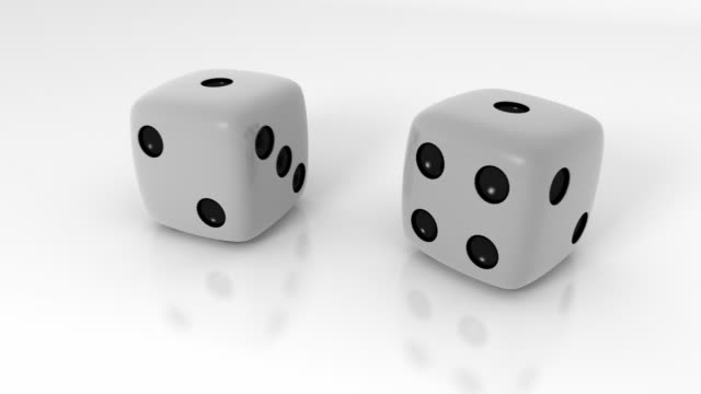 dice roll + alpha - dice stock videos & royalty-free footage