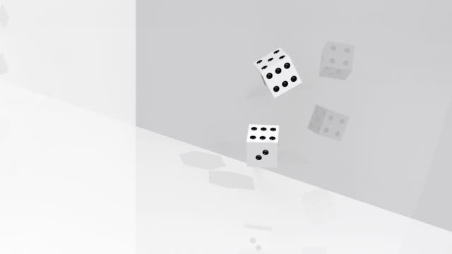 dices rolling double four - double chance stock videos & royalty-free footage