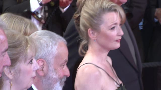 Dick Pope Ruth Sheen Georgina Lowe Mike Leigh Lesley Manville and Jim Broadbent at the Another Year Premiere Cannes 2010 Film Festival at Cannes
