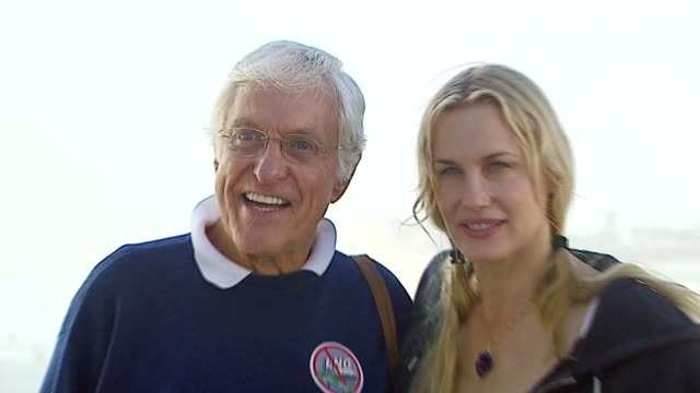 dick van dyke and daryl hannah at the a day at the beach paddle out protest at malibu beach in malibu california on october 22 2006 - malibu beach stock videos & royalty-free footage