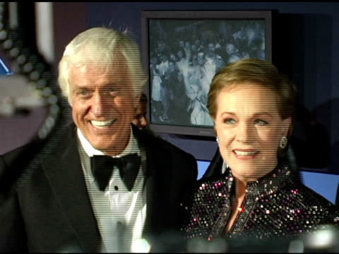 dick van dyke and julie andrews at the 'mary poppins' 40th anniversary and launch of the special edition dvd arrivals at the el capitan theatre in... - julie andrews stock videos & royalty-free footage