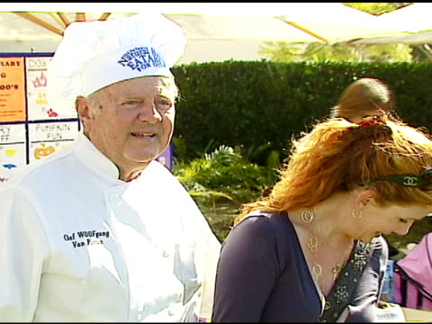 dick van patten and melissa gilbert at the dine with your dog day at the hyatt regency century plaza in century city, california on october 19, 2006. - melissa gilbert stock videos & royalty-free footage