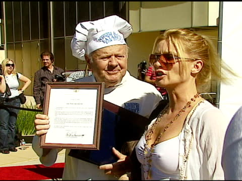 Dick Van Patten and Nicollette Sheridan at the Dine With Your Dog Day at the Hyatt Regency Century Plaza in Century City California on October 19 2006