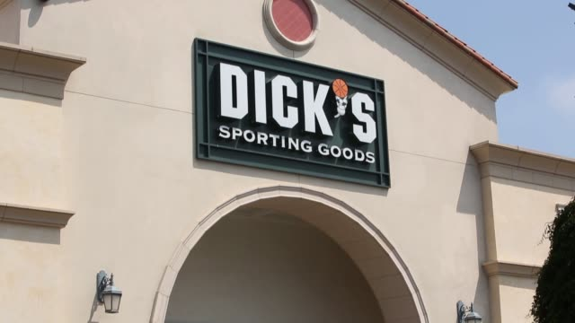 dick's sporting goods retail mall shopping consumers products el segundo california exteriors signage dick's sporting goods on august 19 2013 in el... - el segundo stock videos & royalty-free footage