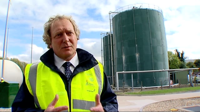 didcot 'human sewage' energy experiment martin orrill interview sot control valves and pipework at green gas processing plant close shot of gas... - didcot stock videos and b-roll footage