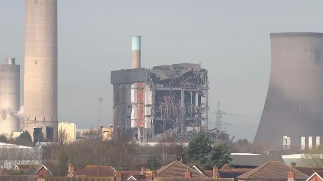hopes fade for missing people various of partially collapsed boiler house building - didcot stock videos and b-roll footage