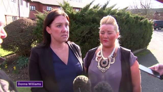 police criticised over search for missing men ales swamsea ext donna williams and jade ali press conference sot - didcot stock videos and b-roll footage