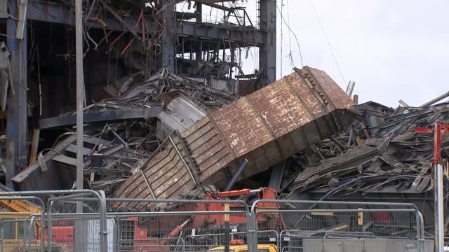 police criticised over search for missing men lib didcot section of collapsed power station - didcot stock videos and b-roll footage