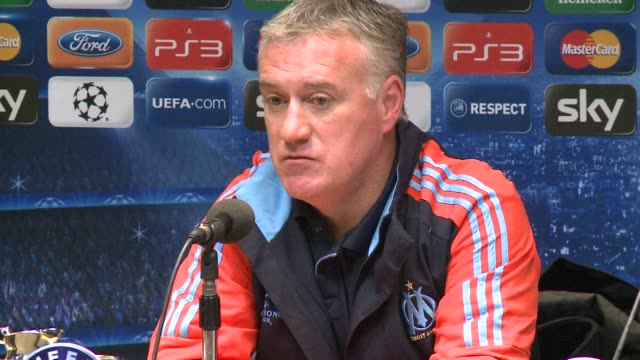 stockvideo's en b-roll-footage met didier deschamps wants marseille to channel the momentum generated by the upturn in their domestic fortunes when they visit borussia dortmund for... - borussia dortmund