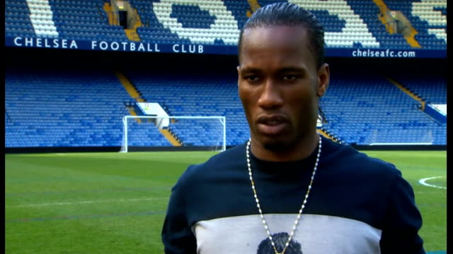 Didier Drogba to leave Chelsea / Speculation over manager ENGLAND London Stamford Bridge DAY Didier Drogba interview SOT on reasons for leaving
