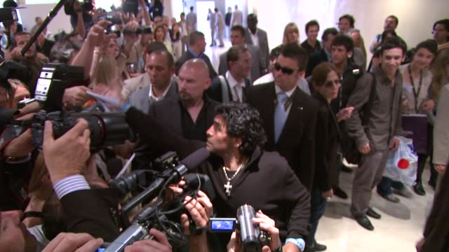 Diego Armando Maradona at the Cannes photo call for 'Maradona' in Cannes on May 20 2008