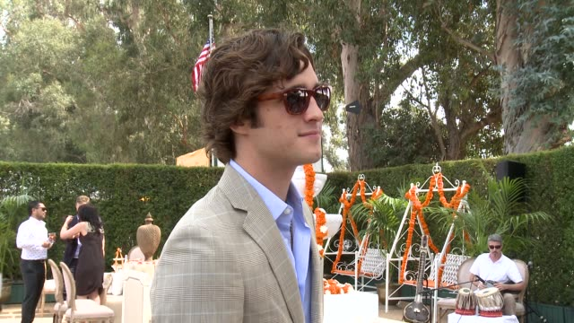 diego boneta at the third annual veuve clicquot polo classic - los angeles at will rogers state historic park on 10/6/12 in los angeles, california - 出来事の発生点の映像素材/bロール