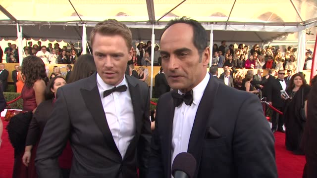 INTERVIEW Diego Klattenhoff Navid Negahban on their suits what it means to them to celebrate with their peers how they got their SAG card sat 19th...