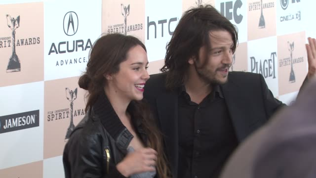 diego luna and camila sodi at the 2011 independent spirit awards - arrivals part 2 at santa monica ca. - independent feature project stock videos & royalty-free footage