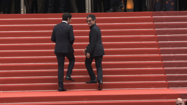 slomo diego luna gael garcía bernal at 'once upon a time in hollywood ' red carpet arrivals the 72nd cannes film festival at grand theatre lumiere on... - grand theatre lumiere stock videos & royalty-free footage