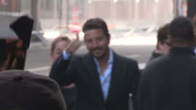 Diego Luna greets fans while departing The Book Of Life Premiere at Regal 14 in Los Angeles in Celebrity Sightings in Los Angeles