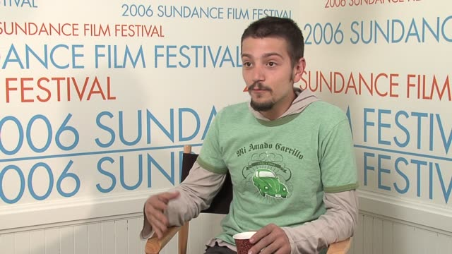 Diego Luna on how it was producing the film at the 2006 Sundance Film Festival Wireimage Video Studio at WireImage Studio in Park City Utah on...