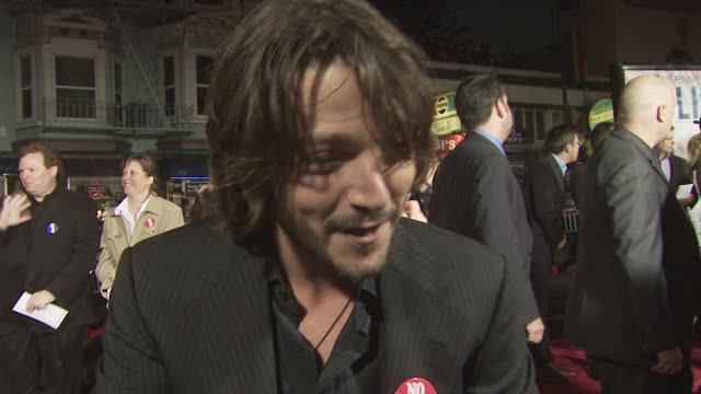 Diego Luna on researching Harvey Milk's story and his role as Jack Lira what Sean Penn brings to the role of Harvey Milk at the MILK premiere at San...