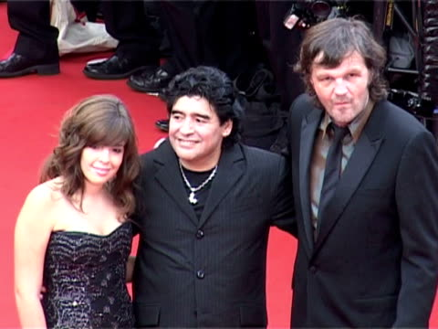 Diego Maradona his daughter and Emir Kusturica at the 2005 Cannes Film Festival Closing Ceremony and 'Chromophobia' Screening at Cannes